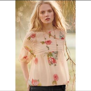 Anthropologie One Fine Day tea rose blouse, Small